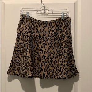 Free People cheetah print mini size 6